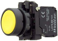 WL5 22mm Plastik Yaylı Sarı Start Buton (1NO)