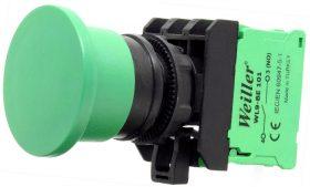 WL9 22mm Plastik Kayıcı Yeşil Mantar Buton (1NO)
