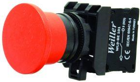 WL9-AC42 Plastic Mushroom Button (1NC)