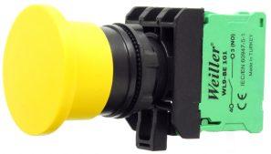 WL9 22mm Plastik Kayıcı Sarı Mantar Buton (1NO)