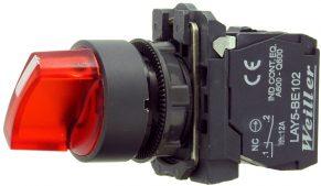 WL5 22mm 0-1 Kalıcı Ledli Mandal Buton  (1NO) 240VAC