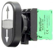 22mm Plastik Yukarı – Aşağı Oklu ikiz Buton (1NO/1NC)