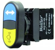 22mm Plastik Alarm – Ortak Oklu İkiz Buton (1NO/1NO)