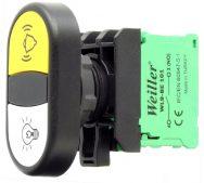 WL9  22mm Plastik Alarm – Lamba İkiz Buton (1NO/1NO)