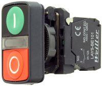 WL5 22mm Plastik İşaretli İkiz Buton (1NO/1NC)