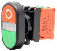 WL9-AL7425 Plastic Twin Button (1NO+1NC)