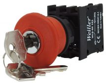WL9-AS142 Plastic Emergency Stop Button (1NC)