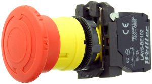 WL5 22mm Plastik Mantar Buton (1NC) – Acil Stop