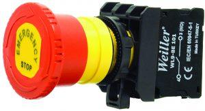 WL9-AS542E Plastic Emergency Stop Button (1NC)