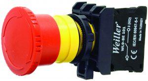 WL9-AS442NO Plastic Emergency Stop Button (1NO)