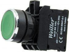 22mm Yaylı Metal Kaplamalı Start Buton Yeşil (1NO)