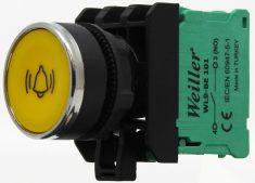 22mm Yaylı Metal Kaplamalı Alarm İşaretli Start Buton (1NO)