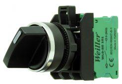 22mm Metal Kaplamalı 0-1 Kalıcı Mandal Buton (1NO) 3 Kontak Takılabilir