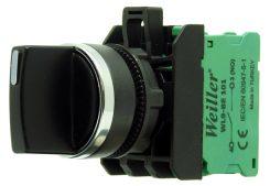 22mm Metal Kaplamalı 1-0-2  Kalıcı Mandal Buton (1NO) 3 Kontak Takılabilir