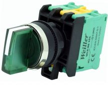 22mm 1-0-2 Ledli Metal Kaplama Kalıcı Mandal Buton  (1NO) 110-240VAC