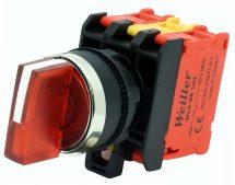 22mm 1-0-2 Ledli Metal Kaplama Kalıcı Mandal Buton  (1NC) 110-240VAC