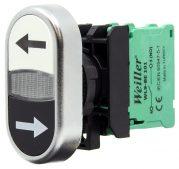 22mm Pls. Metal Kaplamalı Yukarı – Aşağı Oklu Ters Yönlü İkiz Buton (1NO/1NO