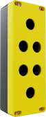 6'lı Sarı – Siyah Büyük Boy Boş Kutu