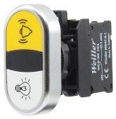 22mm Plastik Metal Kaplamalı Alarm – Lamba İkiz Buton (1NO/1NO)