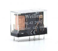 WLRL-42 24VDC 8 Pin Relay (1NO+1NC)