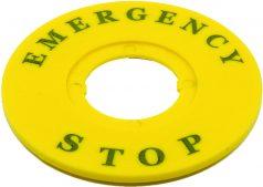 Ø60 mm Plastik Emergency Rozeti (Kalın Tip) LAZER BASKI