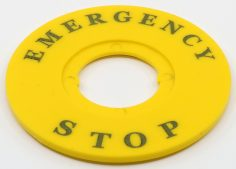 Ø60 mm Plastik Emergency Rozeti – (İnce Tip) LAZER BASKI