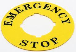 Ø60 mm Leksan Baskılı Emergency Yapışkanlı Etiket
