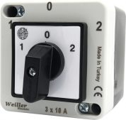 3x10A 1-0-2 Kutup Değiştirici Kutulu Pako Şalter