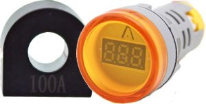 WL22-VA75Y Ø22mm Display Göstergeli Ampermetre 1A-100A AC – MAX: 380V AKIM TRAFOLU