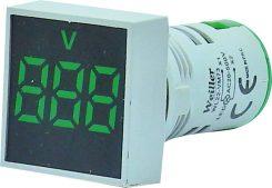 WL22-VM73K Ø22mm Display Göstergeli Voltmetre 12- 500VAC