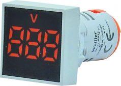 WL22-VM74K Ø22mm Display Göstergeli Voltmetre 12- 500VAC