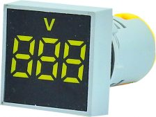 WL22-VM75K Ø22mm Display Göstergeli Voltmetre 12- 500VAC