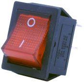 4 Pin – Işıklı – Geniş Tip (ON-OFF) Kırmızı W-502