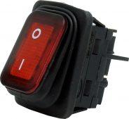 4 Pin – Işıklı – Geniş Tip Körüklü (ON-OFF) Kırmızı (IP65)