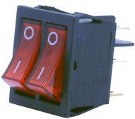6 Pin – Işıklı – 2'li (ON-OFF) Anahtar