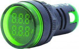 WL22-VAM73Y Ø22mm Display Göstergeli Voltampermetre 12- 500VAC     1A-100A AC AKIM TRAFOLU