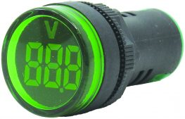 WL22-VM73Y Ø22mm Display Göstergeli Voltmetre 12- 500VAC