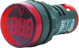 WL22-VM74Y Ø22mm Display Göstergeli Voltmetre 12- 500VAC