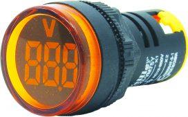WL22-VM75Y Ø22mm Display Göstergeli Voltmetre 12- 500VAC