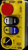 WL9-ELV614 6'lı Plastik Alarm ve Ortak Butonlu Revizyon Kutusu