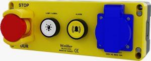 Kuyudibi Acil Stop(1NC) Vavien(1NO) Alarm (1NO) 16Amp Priz Kombinasyon