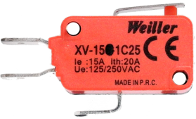 XV-151-1C25 Uzun Palet Pls. Makaralı Mikro Switch (1NO+1NC)