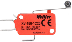XV-156-1C25 Uzun Palet Pls. Makaralı Mikro Switch (1NO+1NC)