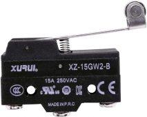 XZ-15GW2-B (CM1703) Uzun Palet  Metal Makaralı Switch (1NO+1NC)