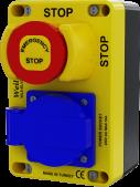 WL9-ELV211E Stop Buton ve 16Amper Priz Kuyudibi Set