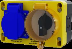 WL9-BYP201  3Kad.Bypasslı 16Amper Prizli Kombinasyon