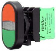 WL9-AL7465-24L Plastic Twin Button (1NO+1NC+LED)