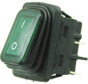 W-503G 4 Pin Işıklı Geniş Tip Körüklü ON/OFF Anahtar
