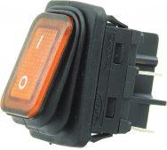 W-503Y 4 Pin Işıklı Geniş Tip Körüklü ON/OFF Anahtar