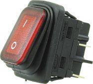W-503R 4 Pin Işıklı Geniş Tip Körüklü ON/OFF Anahtar
